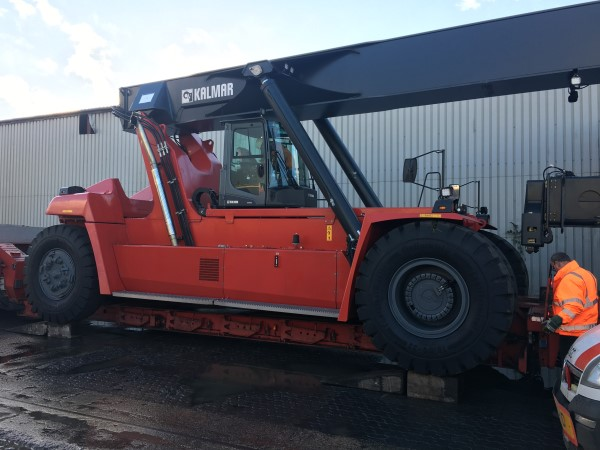 New Kalmar Container Reach Stacker Delivered At Newell & Wright