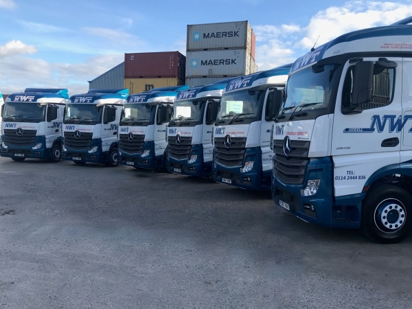 Six New Mercedes Actros Trucks On The Road Today